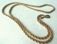 Vintage Gold Tone Rope Necklace By Designer Vendome